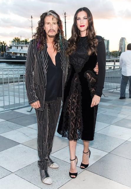Steven Tyler and his daughter Liv Tyler in New York.