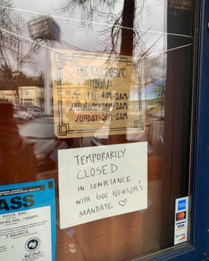 The Cat House bar in Oakland closed after California governor's announcement.