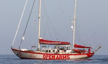 The Open Arms ship