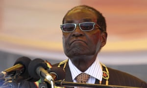 President Mugabe waits to address crowds gathered for Zimbabwe's Heroes Day commemorations in Harare.