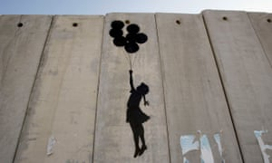 Banksy's work on the West Bank wall in Ramallah.