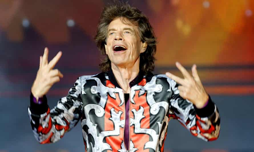 Mick Jagger performing with the Rolling Stones in 2018.