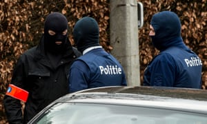 Belgian police conduct a search operation in connection with the foiled plot to attack Paris