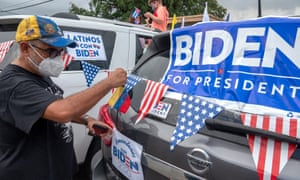 Joe Biden's supporters in Florida attend to a demonstration against the Donald Trump in Little Havana, Miami, last week.