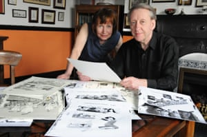 Mary and Bryan Talbot at work on a previous book.
