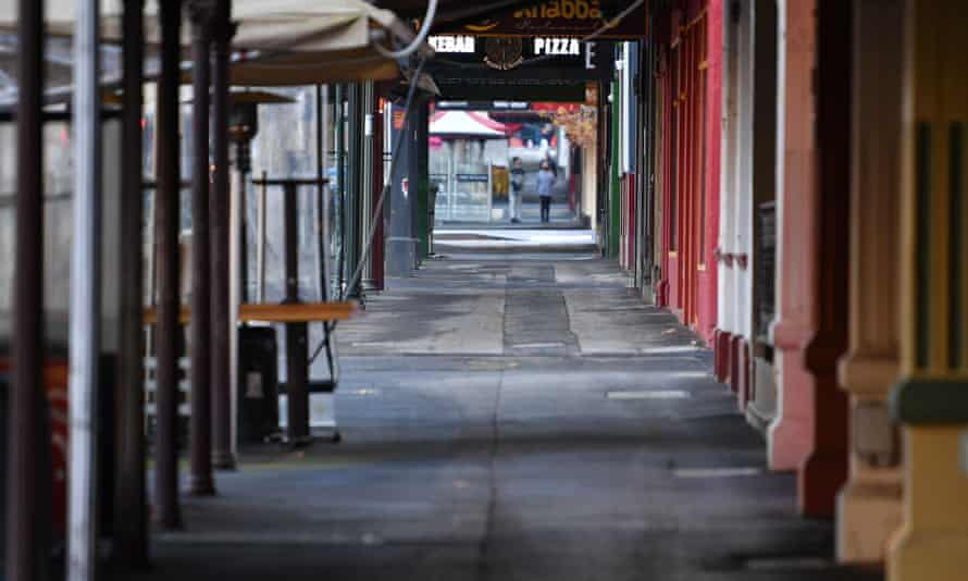 Melbourne's normally bustling Lygon Street was empty in early June during the city's fourth lockdown
