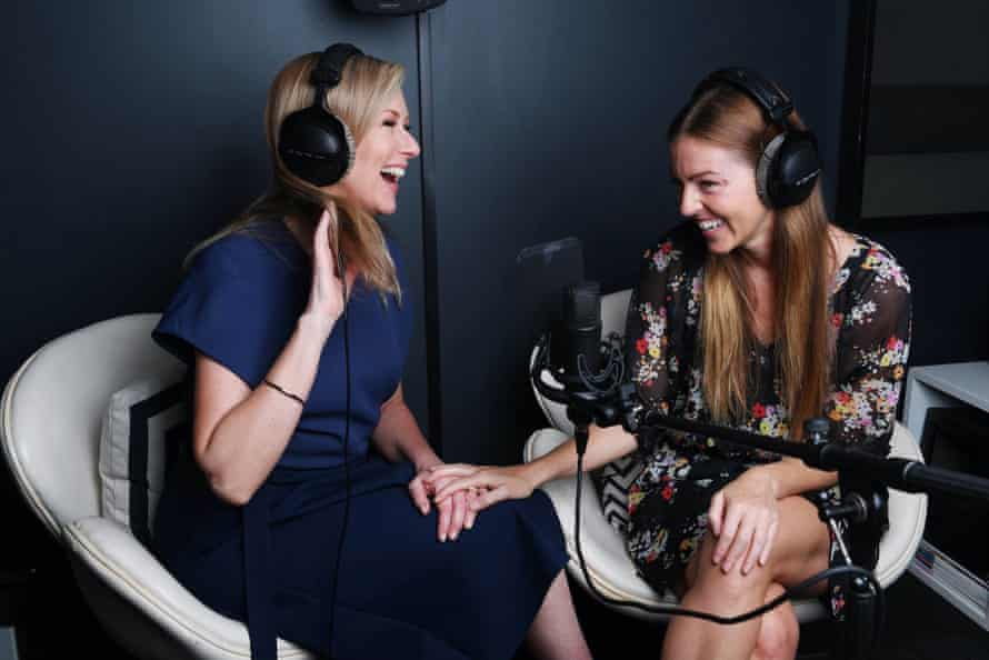 Melissa Doyle in the studio with her producer Naima Brown.