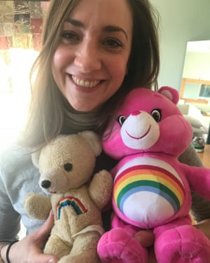 Katherine McQueen and her Care Bear.