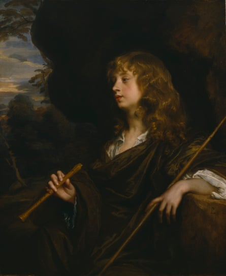 Portrait of a Young Man as a Shepherd, circa 1658-60, by Peter Lely.