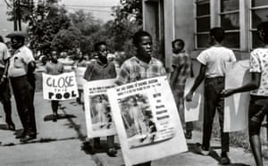 Children protest outside the YMCA, Jackson, Mississippi, late 1960s by Doris Derby.