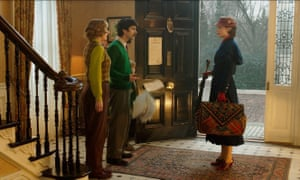 Emily Mortimer, Ben Whishaw and Emily Blunt in Mary Poppins Returns