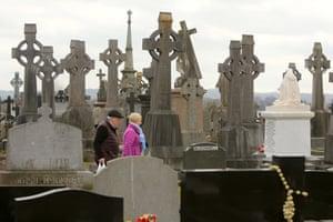 General view of Milltown cemetery in west Belfast
