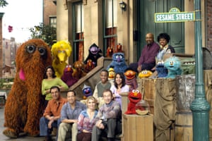 The cast of Sesame Street in 2004