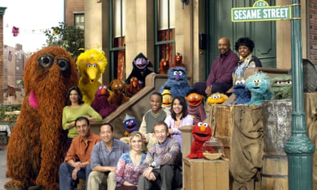 """SESAME STREET**FILE** The cast of """"Sesame Street"""" poses in this undated publicity photo. On Saturday, April 22, 2006, PBS won 12 Creative Craft Daytime Emmy Awards, including seven trophies for """"Sesame Street."""" (AP Photo/PBS, Richard Termine, File)"""