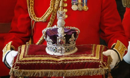 The Imperial State Crown with the Koh-i-Noor diamond at the House of Lords, Westminster, November 2007. Photo Toby Melville/AFP/Getty