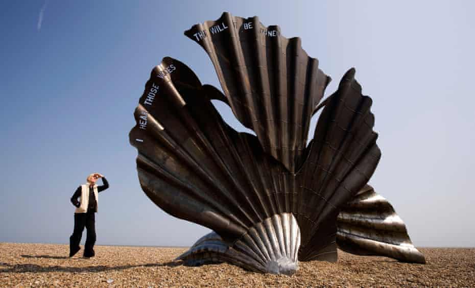 Tourist boom … Hambling's Scallop memorial to Benjamin Britten at Aldeburgh, Suffolk.