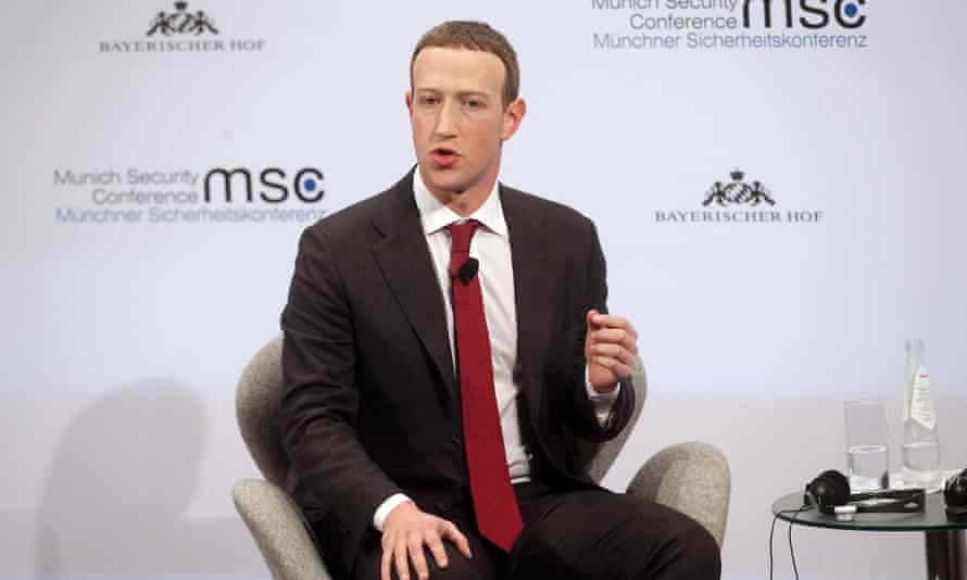 Facebook founder and CEO Mark Zuckerberg speaks during a panel talk at the 2020 Munich Security Conference (MSC) on February 15, 2020 in Munich, Germany.