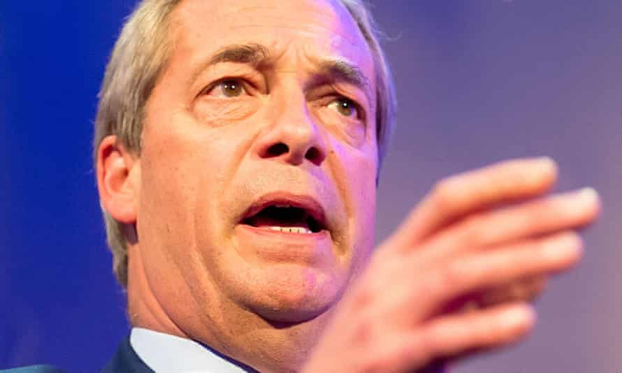 Former Ukip leader Nigel Farage was sent to locations identified by actuaries as prime campaigning targets.