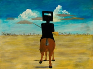 'I wandered into the Met, and there were the paintings' … Ned Kelly, 1946, by Nolan.
