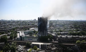The 24-storey residential Grenfell Tower in west London.