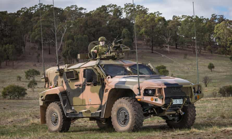 A Hawkei vehicle built by Thales during an Australian army exercise in 2018