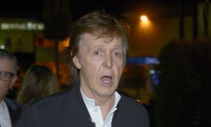 'Maybe I need another hit' … Paul McCartney at Mark Ronson's Republic Records post-Grammy party after being turned away from the one hosted by Tyga.