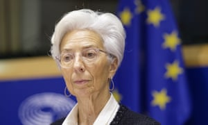 Christine Lagarde attends the economic and monetary affairs committee of the European Parliament on February 6, 2020 in Brussels, Belgium.