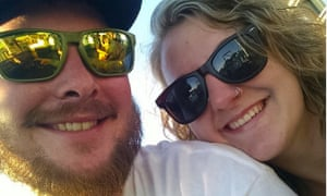 Paden and Katie McCormick, whose two dogs, Dexter and Dahlia, died on 20 August after jumping into a scalding natural hot spring at Panther creek hot springs in Idaho. Paden McCormick was severely burned.