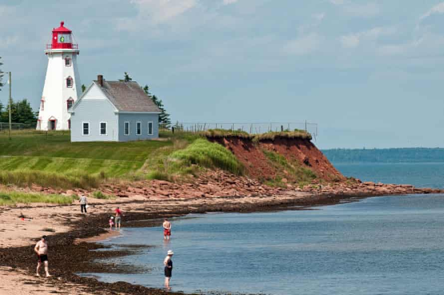 Panmure Head lighthouse, Prince Edward Island, Nova Scotia, Canada.