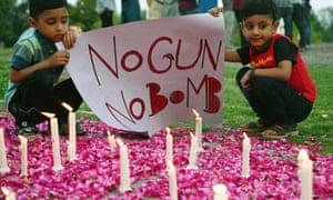 A vigil in Islamabad to pay tribute to the Sri Lankan blast victims.