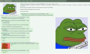 A conversation on the website 4Chan where an anonymous poster warns of violence to come in the northwest of Oregon, USA.