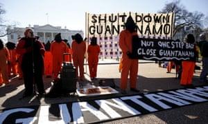 Guantanamo Bay prison protesters Washington