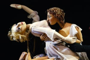 Total, unconditional, one-sided love … Venus and Adonis, as seen in the RSC's puppet production.
