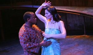 Lucian Msamati and Kate Fleetwood in Pericles at the Swan in Stratford-upon-Avon, 2006.