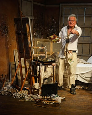 Goodman as Lucian Freud in Looking at Lucian.