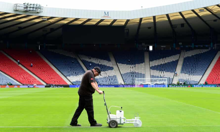 Scotland will continue to stand against racism before their group games at Hampden Park but will take a knee at Wembley.
