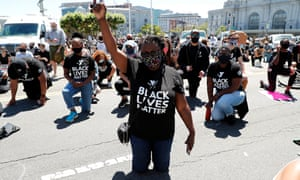 Protesters took a knee with San Francisco Mayor London Breed in silence for eight minutes and forty-six seconds.