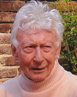 John Goodwin in 2011. Into his 90s, he dashed round in his red Fiat 500 and kept up with theatrical news.