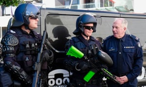 Victoria police defend new weapons, saying violent protests