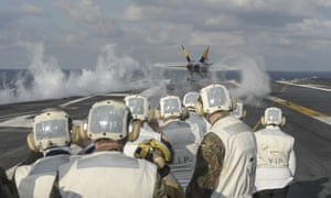 The nuclear-powered aircraft carrier USS Harry S Truman.