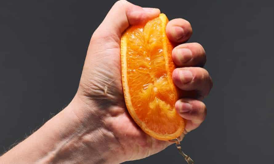 Squeezed orange