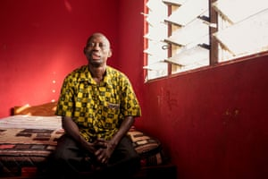 Kofi Nyarko, 45, at home in Ankaful, Cape Coast, Ghana