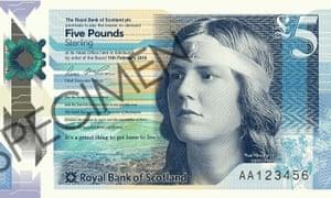 Royal Bank of Scotland new £5 note design