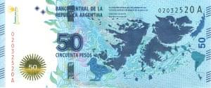 Argentina banknote.