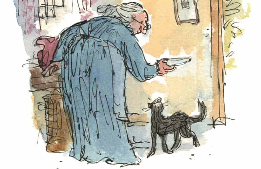 Detail from one of Quentin Blake's illustrations to The Tale of Kitty-in-Boots.