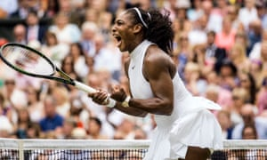 Serena Williams in action during the women's singles final at Wimbledon.