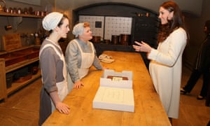 Sophie McShera and Lesley Nicol chat to the Duchess of Cambridge.