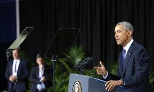 President Obama speaking in Hanover