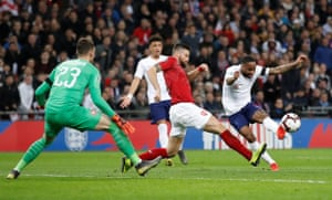 Sterling scores England's third.