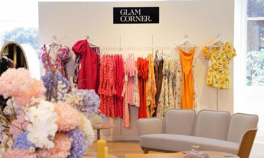 The new Glam Corner pad at David Jones' Elizabeth Street store in Sydney.